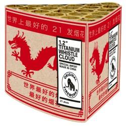 """1.2"""" Titanium whistle cloud"""